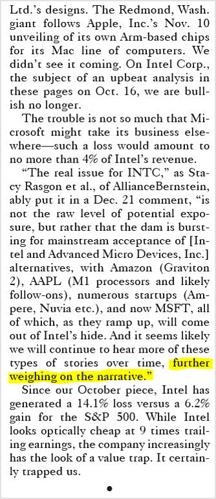 Intel Narrative